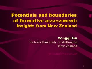 Potentials and boundaries of formative assessment: Insights from New Zealand