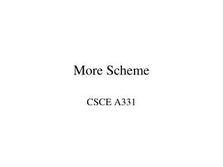 More Scheme
