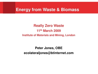 Energy from Waste & Biomass