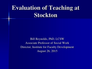 Student evaluations and the impact on curriculum, teaching and assessment