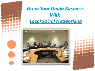 Grow Your Doula Business with Local Social Networking