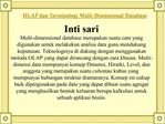 OLAP dan Terminologi Multi-Dimensional Database