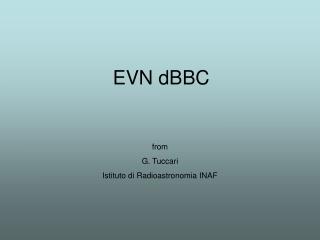 EVN dBBC