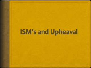 ISM's  and Upheaval