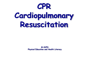 CPR Cardiopulmonary Resuscitation