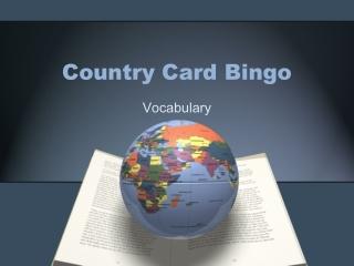 Country Card Bingo
