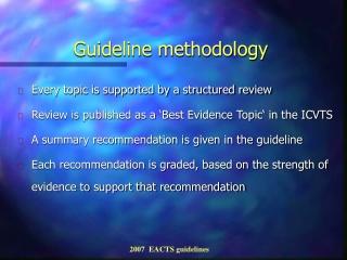 Guideline methodology