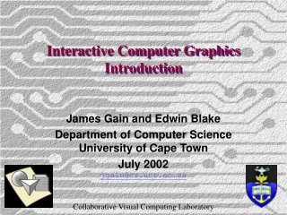 Interactive Computer Graphics Introduction