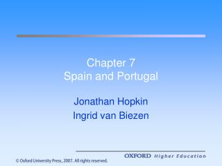 Chapter 7 Spain and Portugal