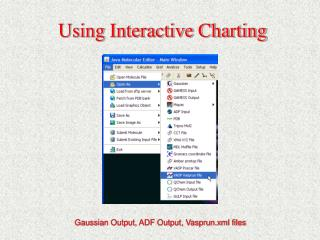 Using Interactive Charting
