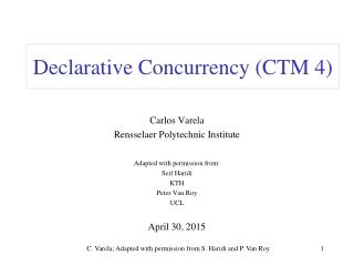 Declarative Concurrency (CTM 4)