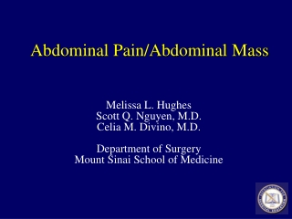 Abdominal Pain/Abdominal Mass