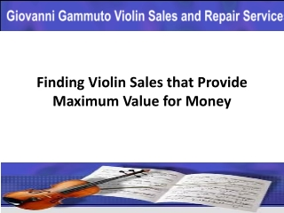 Finding Violin Sales that Provide Maximum Value for Money