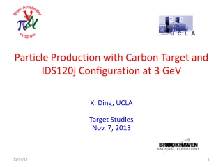 Particle Production with Carbon Target and IDS120j Configuration at 3 GeV