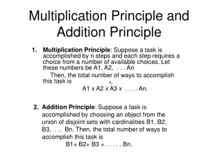 Multiplication Principle and Addition Principle