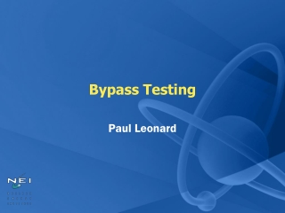 Bypass Testing