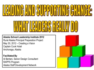 Providing Vision and Leadership At the District Level  Part 2