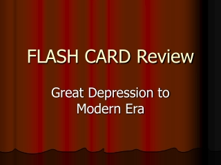 FLASH CARD Review