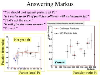 Answering Markus