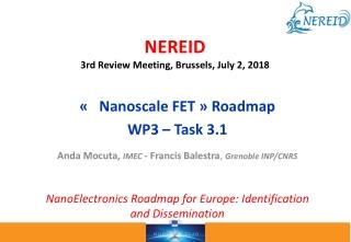 NEREID 3rd Review Meeting, Brussels, July 2, 2018