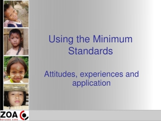 Using the Minimum Standards