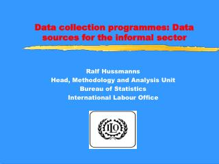 Data collection programmes: Data sources for the informal sector