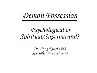 Possession Syndrome
