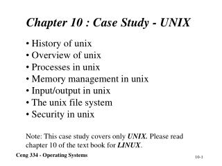 Chapter 10 : C ase Study  -  UNIX