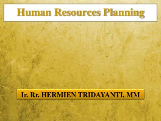 Human Resources Planning