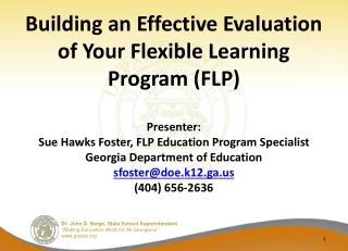 Agenda – FLP Evaluation