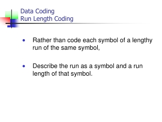Data Coding Run Length Coding