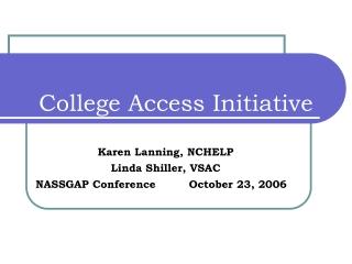 College Access Initiative