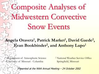 Composite Analyses of Midwestern Convective Snow Events