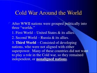 Cold War Around the World