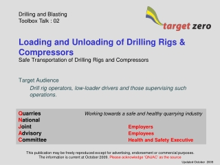 Loading and Unloading of Drilling Rigs & Compressors
