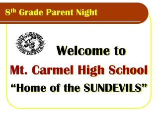 8th Grade Parent Night