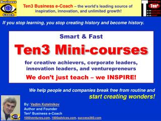 Ten3 MINI-COURSES