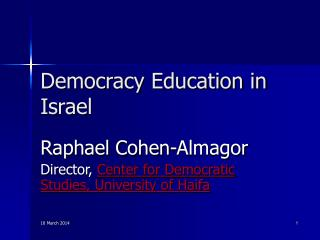 Democracy Education in Israel