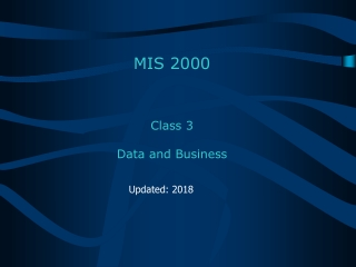 Class 3 Data and Business