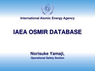 IAEA OSMIR DATABASE