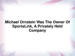 Michael Ornstein NFL