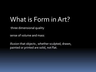 three dimensional quality