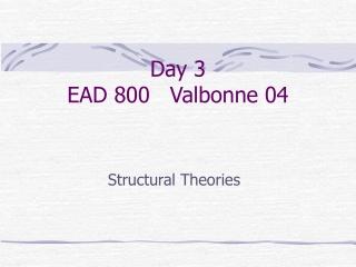 Day 3 EAD 800   Valbonne 04