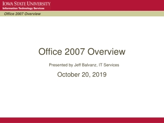 Office 2007 Overview