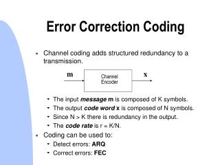 Error Correction Coding