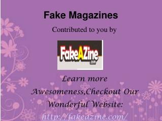 Fake magazines