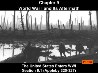 The United States Enters WWI Section 9.1 (Appleby 320-327)