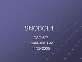SNOBOL4