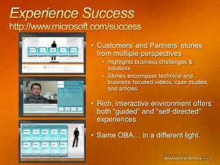 Experience Success microsoft/success