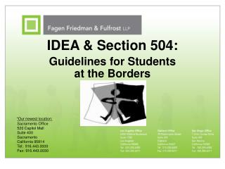 IDEA & Section 504: